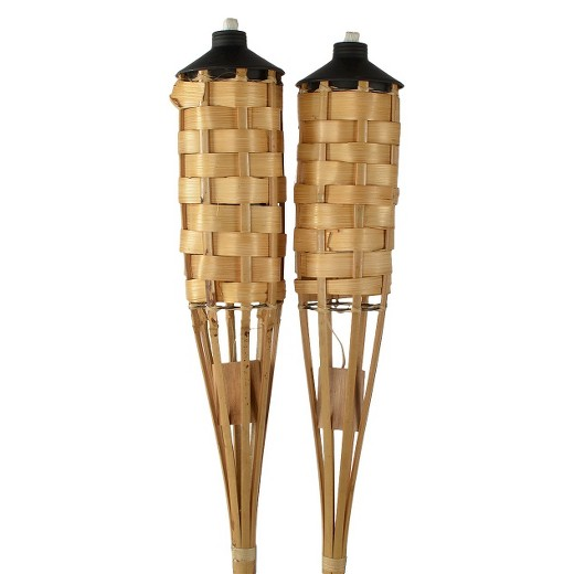 Bamboo Torch with Stand