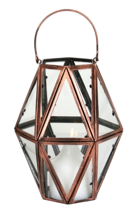 Hexagonal Copper Lantern