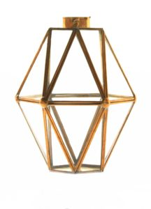 Hexagonal Gold Lantern