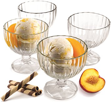 Clear Ice Cream Glass