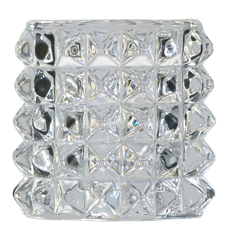 Crystal Round Candle Holder (7 cm)