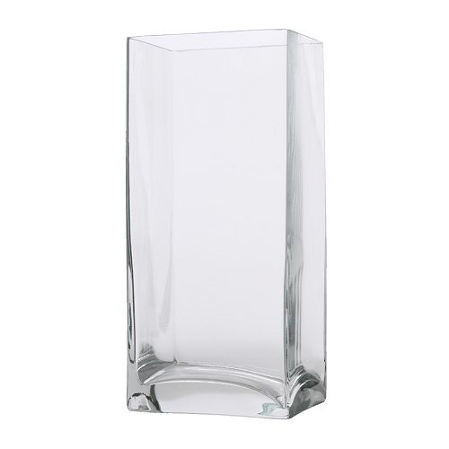 Clear Tall Square Vase