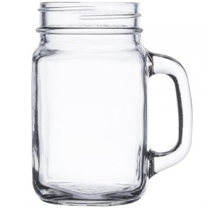 Clear Glass Drink with Handle