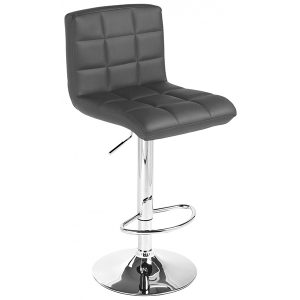 Black Vinyl Bar Stool