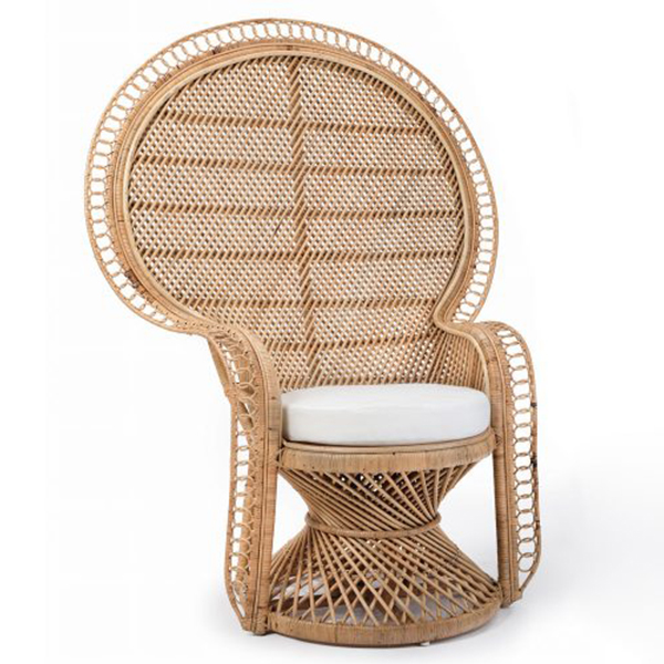 Boho Wicker Peacock Chair