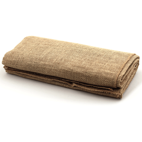 Natural Burlap Throw