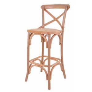 Natural Crossback Stool