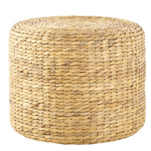 Round Natural Seagrass Pouf