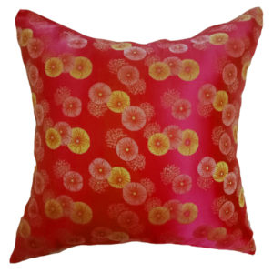 Silk Firework Chinese Cushion