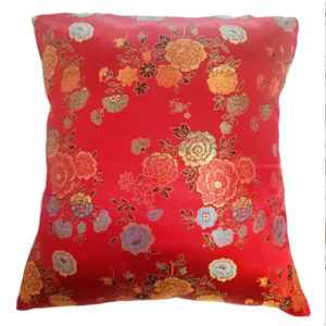 Silk Floral Chinese Cushion