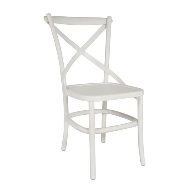 White Crossback Chair